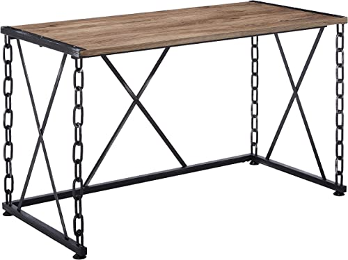 ACME Furniture Jodie Desk, Rustic Oak Antique Black