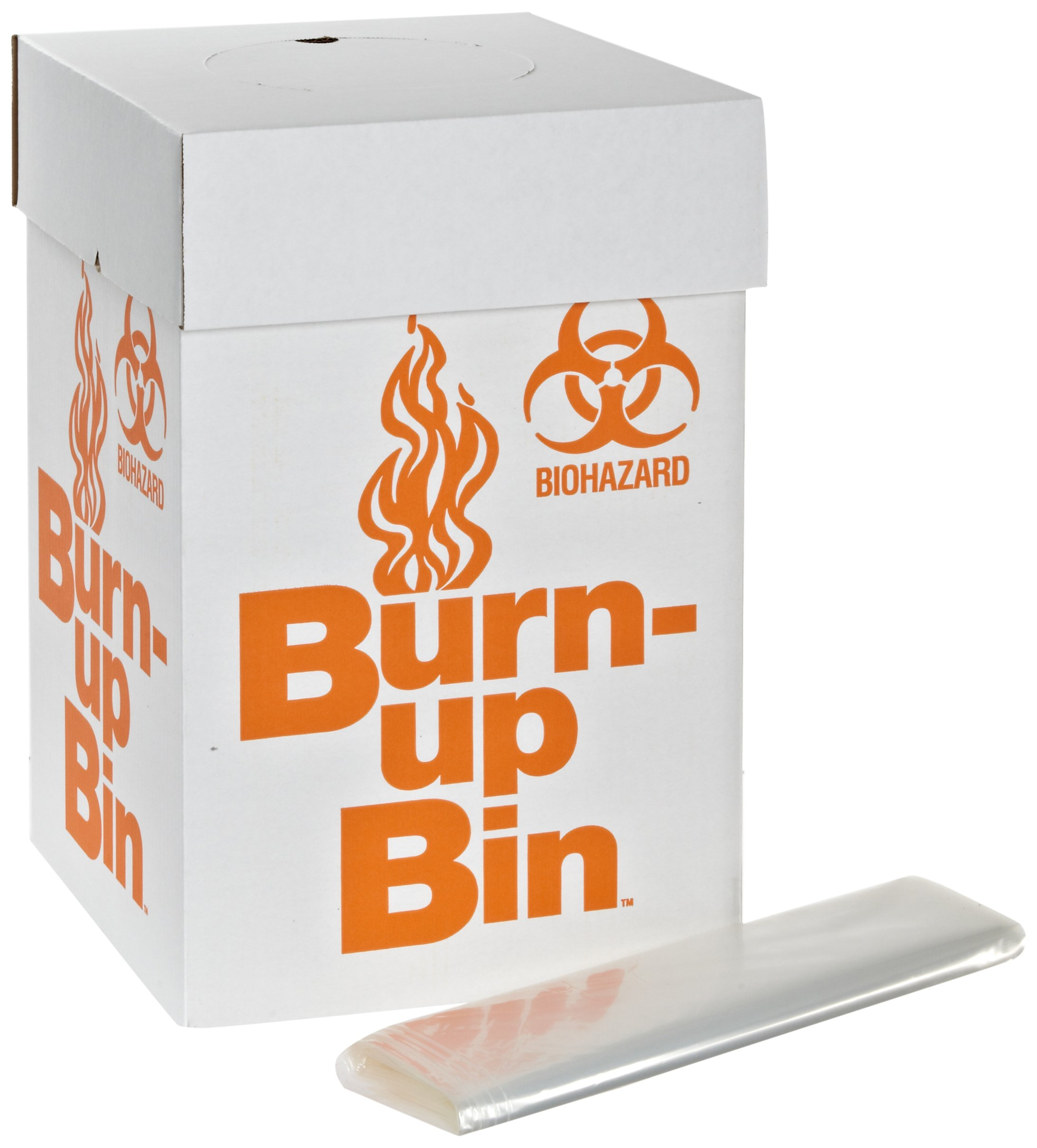 Dynalon 797065 Medium Floor Model Burn-Up Bin Lab BioHazard Disposal Box (Case of 6)