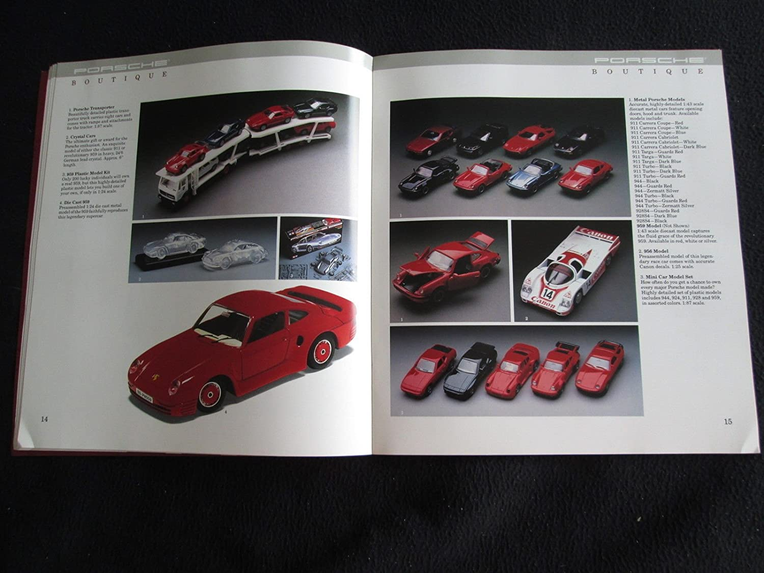 Amazon.com : 1989 PORSCHE BOUTIQUE & ACCESSORIES VINTAGE PRESTIGE COLOR SALES BROCHURE - USA - GORGEOUS ORIGINAL!! : Everything Else