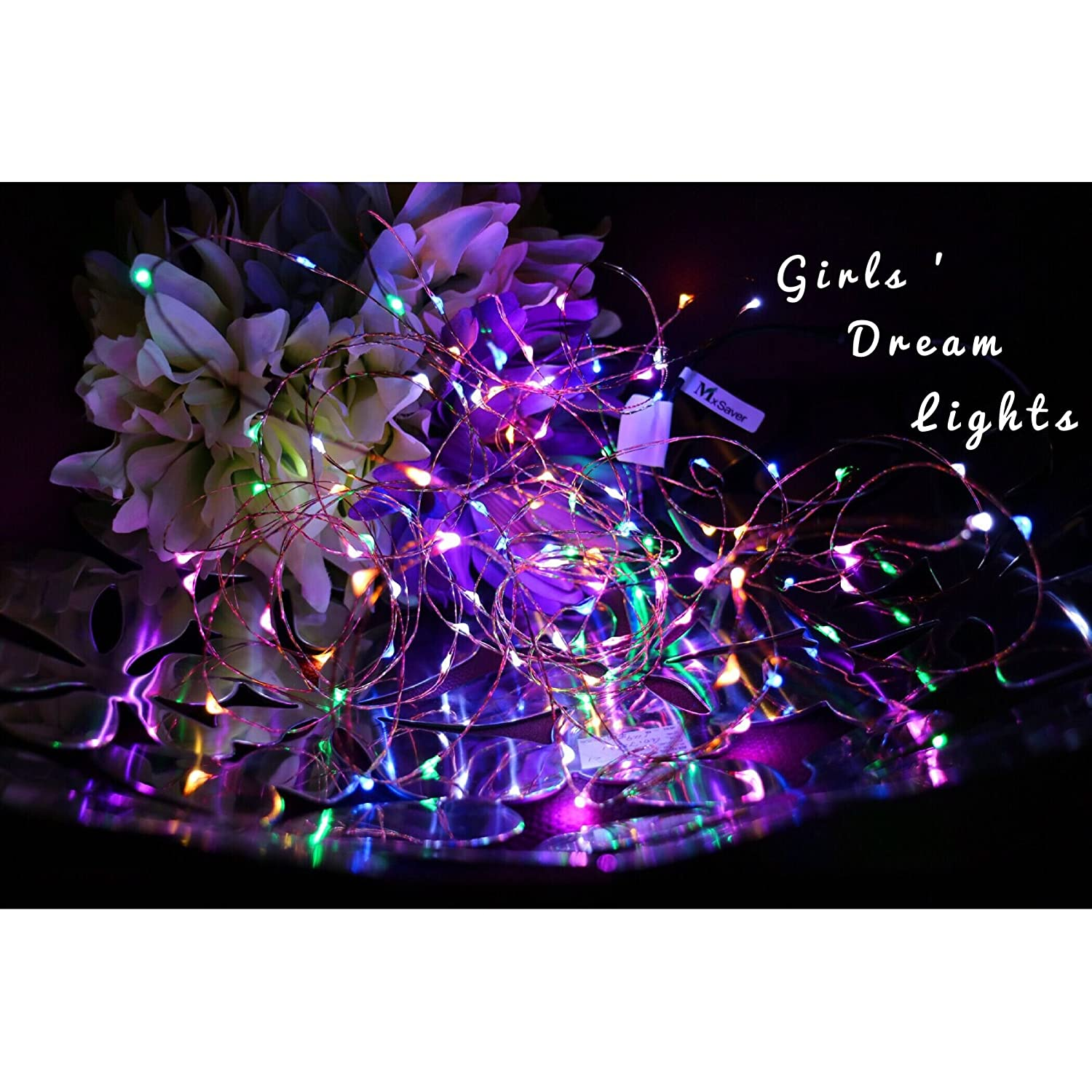This controller lets you control 4 different branches of lights - Amazon Com Mxsaver Fairy Led Copper Wire String Lights Multi Colored 32 8foot 12v Waterproof Steady Mode Home Improvement