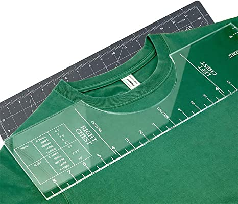 Centering Tool T-Shirt Guide Ruler Sewing Ruler T-Shirt Alignment Vinyl Rulers