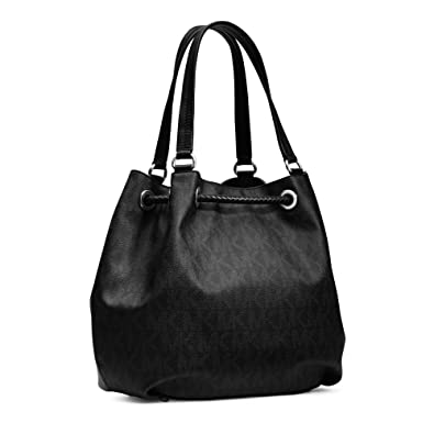 cd28a49a53a0 Amazon.com: Michael Kors Jet Set Chain Item Large Gather Shoulder Tote  Leather Black Bag New: Shoes