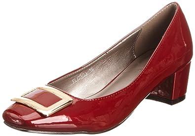 FLC550, Sandales pour femme-Rouge (Red),6 UK, 39 EULunar