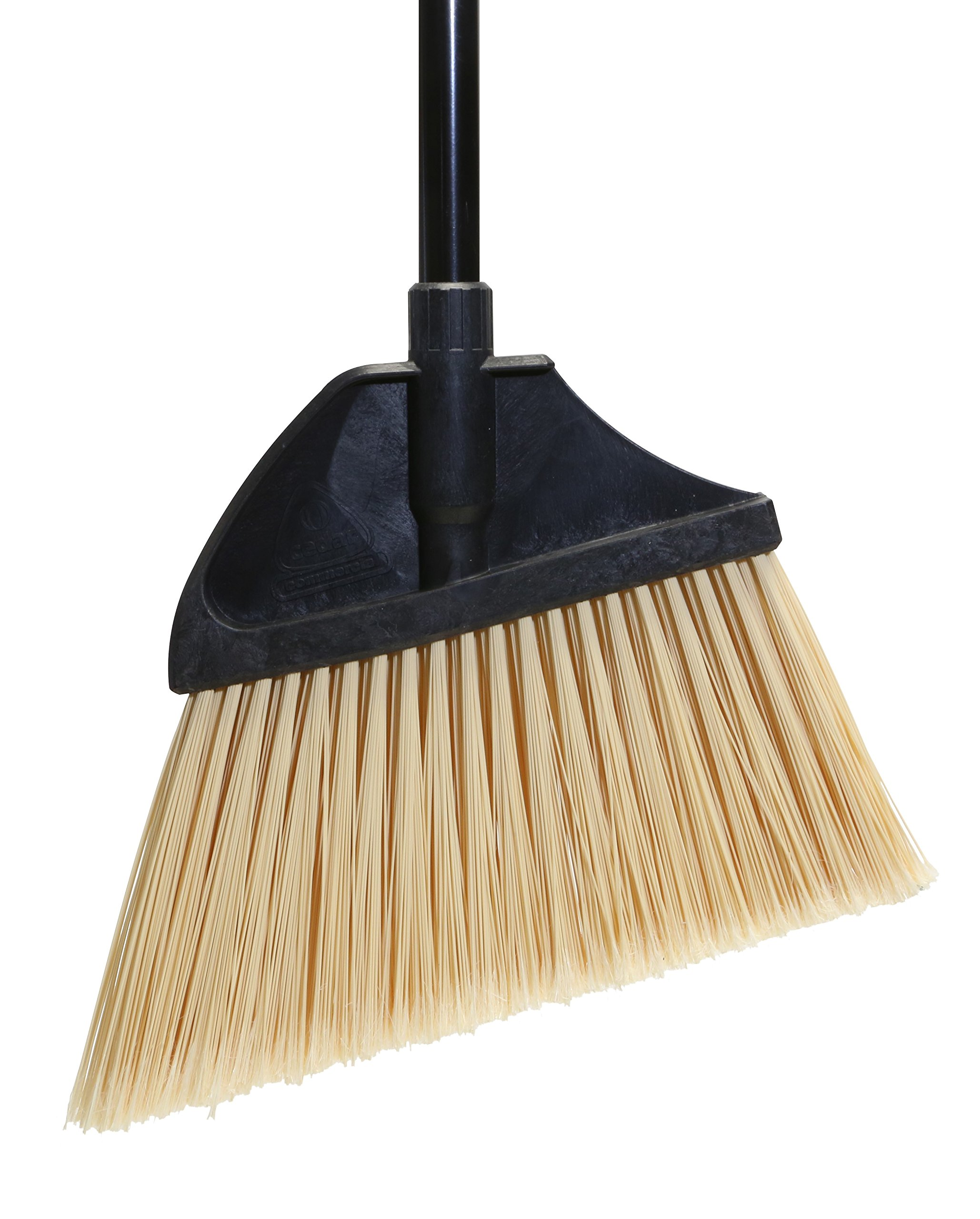 O'Cedar Commercial 91351 MaxiPlus Professional Angle Broom, Metal Handle, Flagged Bristles (Pack of 4)
