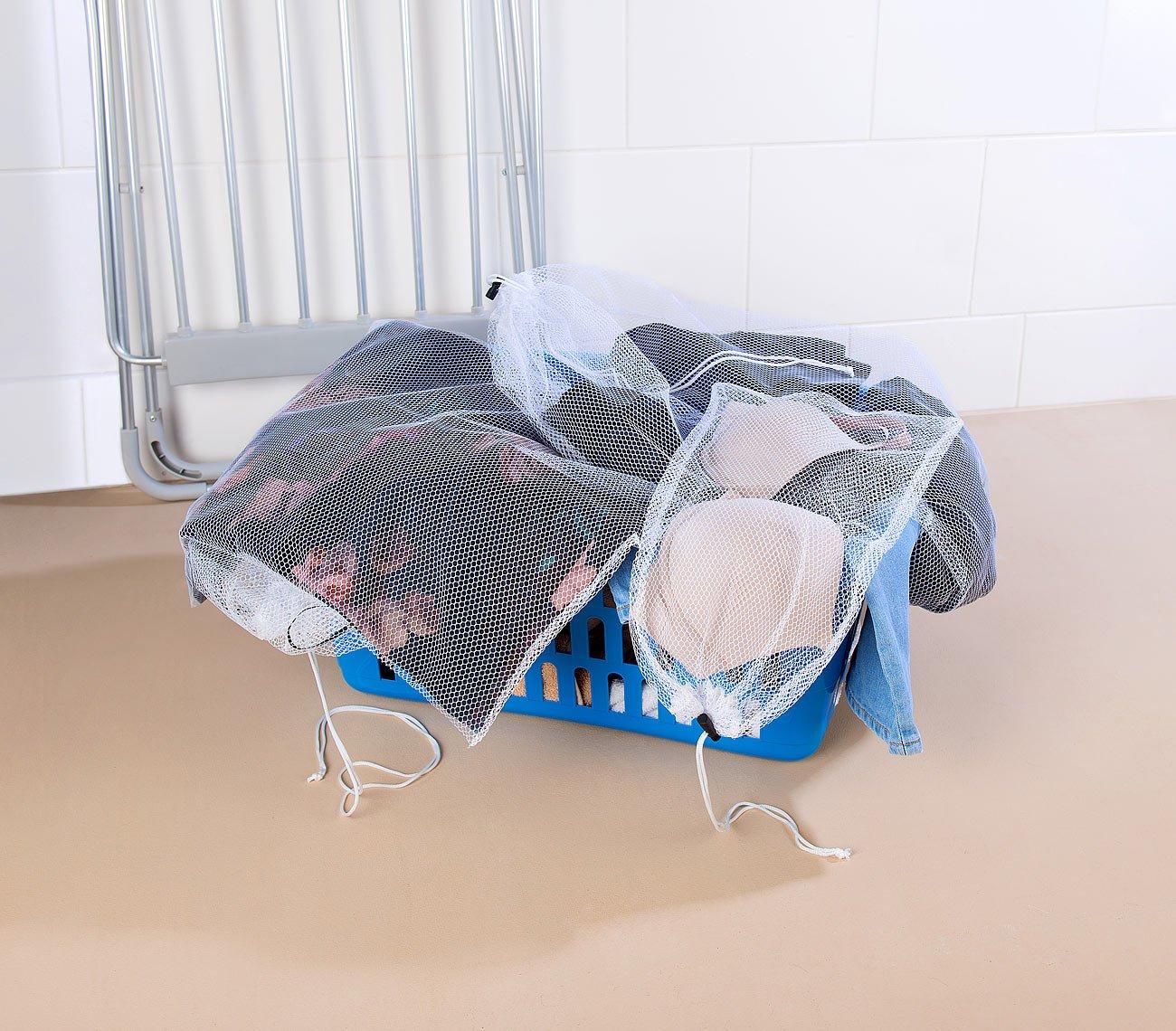 PEARL basic Waschbeutel: W/äschenetze f/ür schonende Waschmaschinen-W/äsche 6er-Set 4 Gr/ö/ßen W/äschebeutel f/ür Waschmaschine