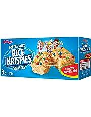 Kellogg's Rice Krispies Square Bars, Rainbow, 8 Rainbowcereal Bars 176 Gram