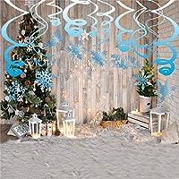 Sayala 30Piezas de Navidad Colgante Remolino,Decoración Copo Nieve