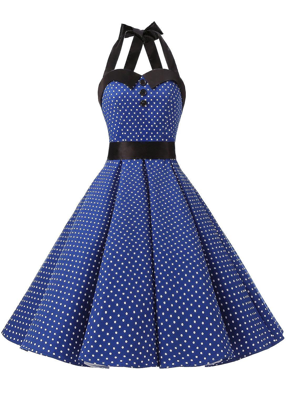 Dressystar Vintage Polka Dot Retro Cocktail Prom Dresses 50 s 60 ...