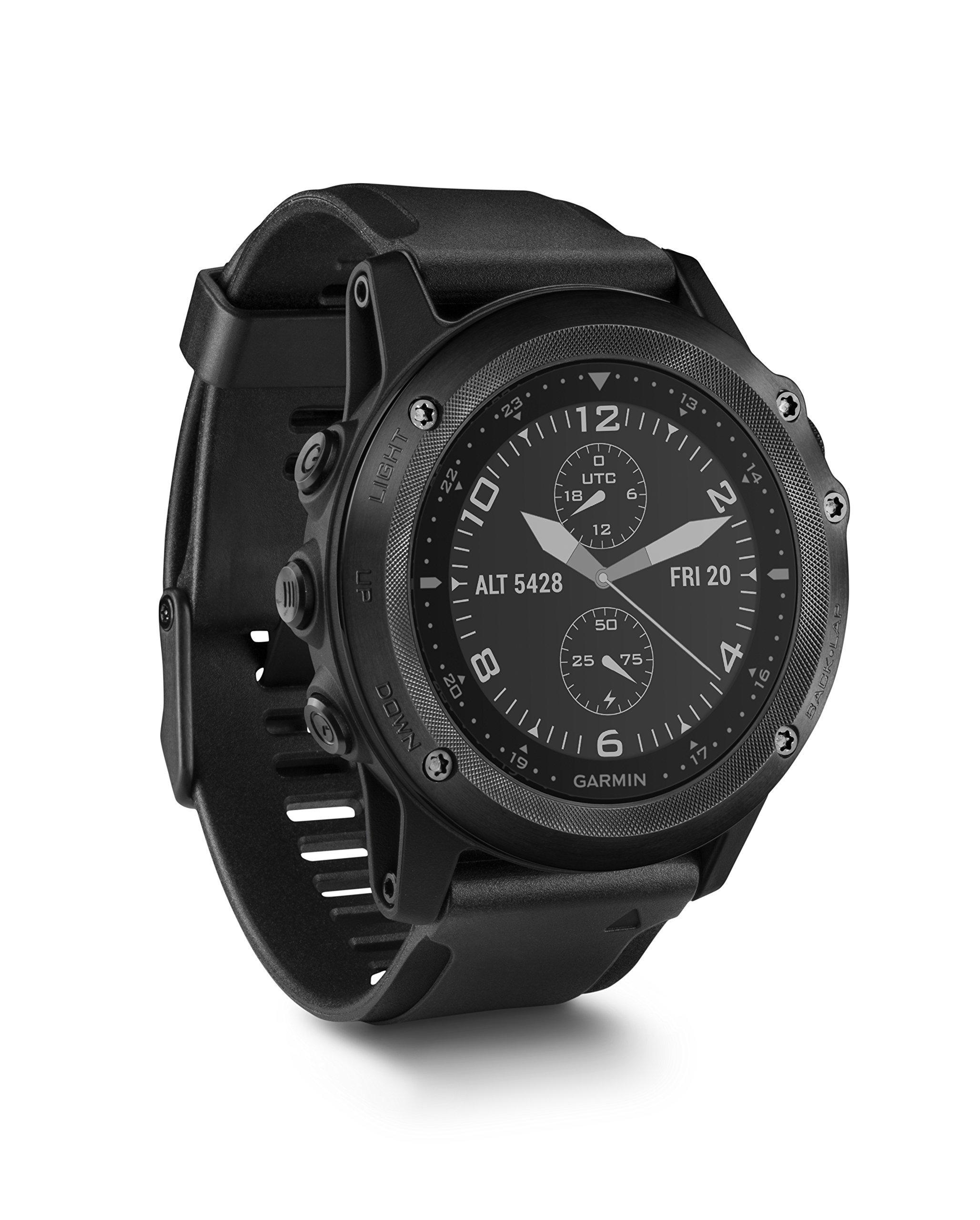 Garmin Tactix Bravo, Black with Silicone Band (Certified Refurbished)