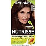 Garnier Nutrisse Nourishing Hair Color Creme, 30 Darkest Brown (Sweet Cola) (Packaging May Vary)