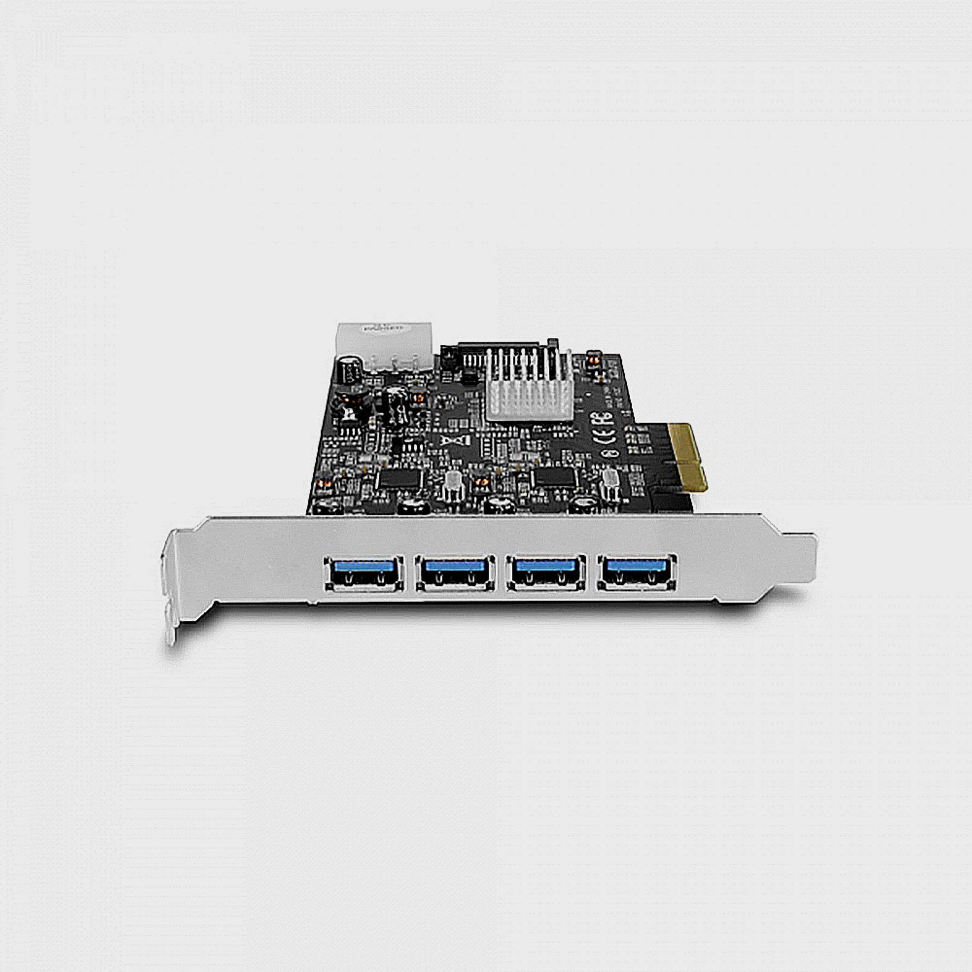 Vantec 4-Port Dedicated 10Gbps USB 3.1 Gen 2 PCIe Host Card with Dual Controller For PCIe x4/x8/x16 slot Black/Silver Black/Silver (UGT-PCE470-2C) by Vantec (Image #7)