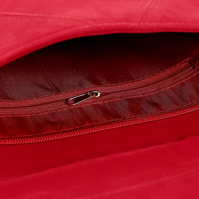 Anladia Cartera de Mano para Mujer Bolso con Cadenas de Fiesta Boda Salidas Bolso Estilo Sobre Color Azul Rojo Negro Fucsia