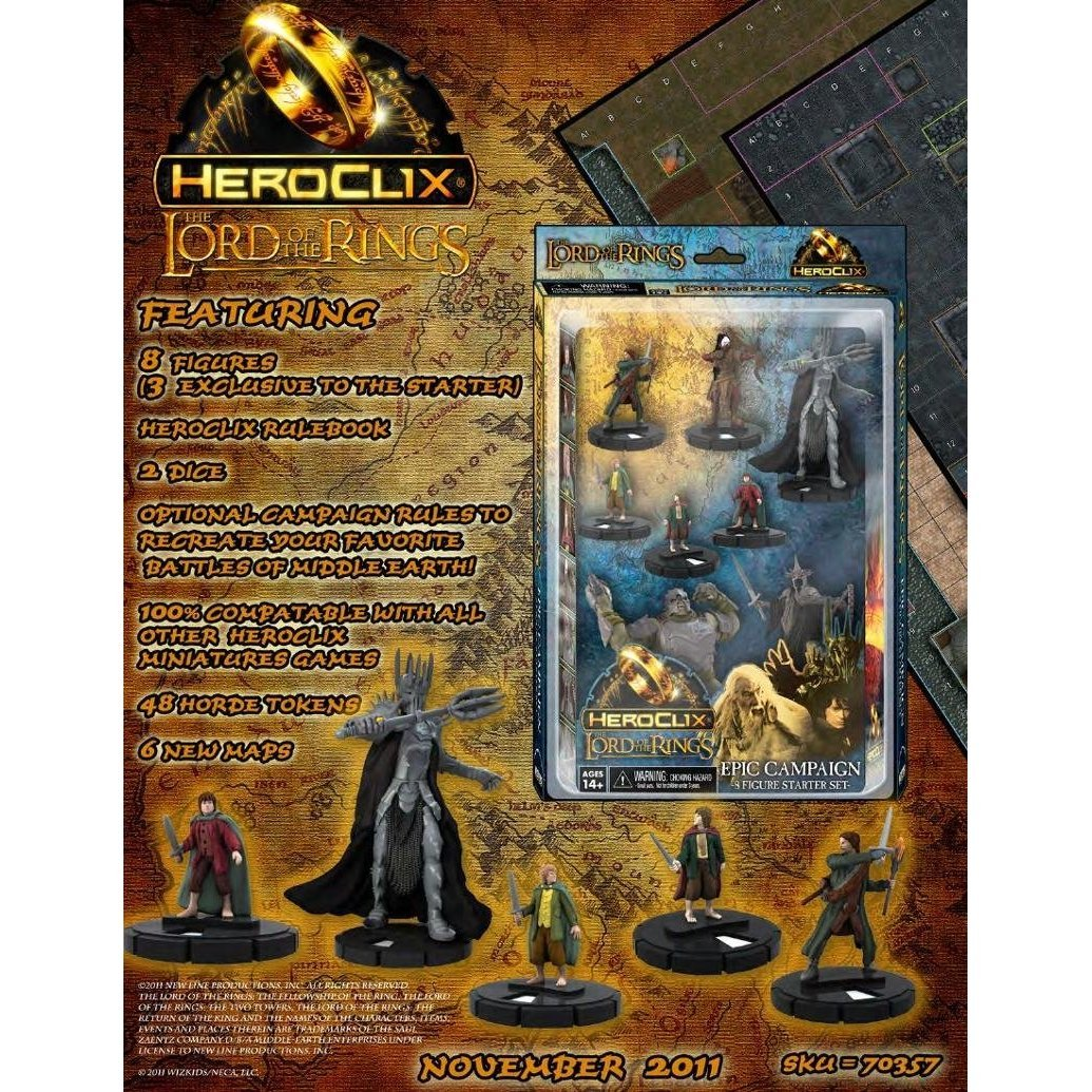 WizKids Lord of The Rings HeroClix: Starter Set