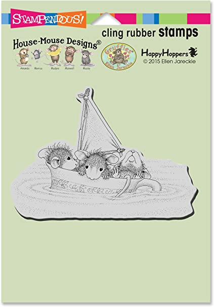 Baby Block Stampendous House Mouse Cling Rubber Stamp 5.5 by 4.5-Inch