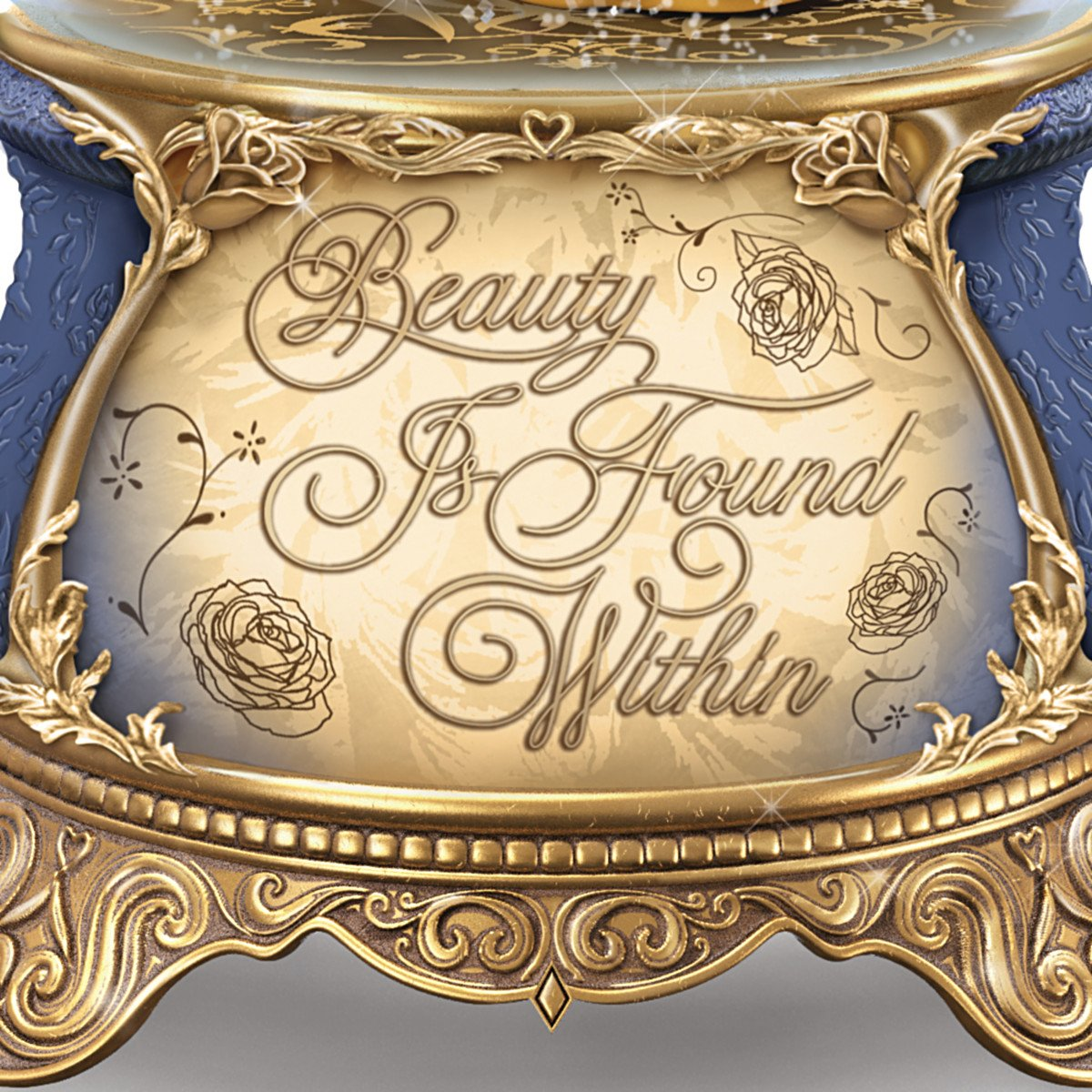 Bradford Exchange The Disney Beauty and the Beast Dance in a Musical Glitter Globe by Bradford Exchange (Image #3)