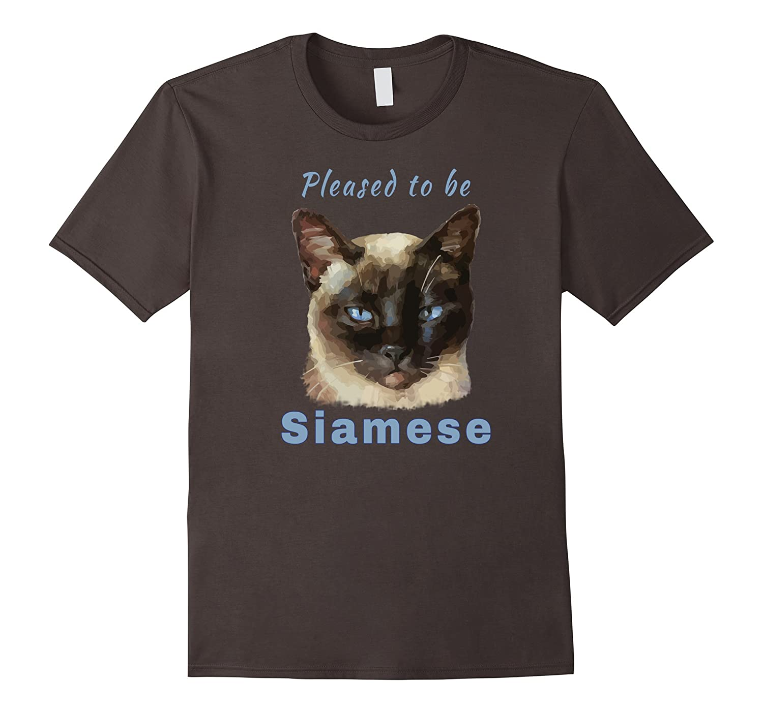 """""""Pleased to be Siamese"""" Cute Cat T-shirt"""