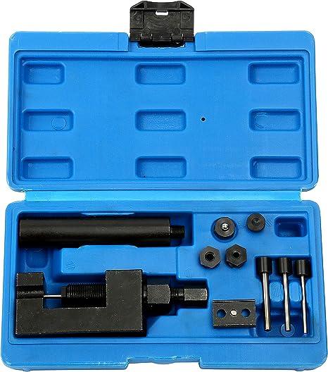 Disjoncteur Cha/îne Coffret de Coupe-Cha/îne Rivetage Kit pour S/épar/é Moto//V/élo//VTT de Rivets