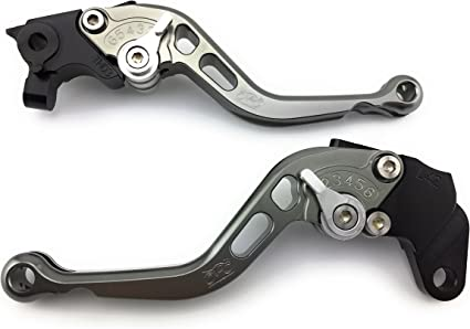 CBR 650 2014-2016 /& CBR 650-F 2017-2018 Paire de leviers longs en aluminium anodis/é pour CBF 650 CB-650F 2014-2018 Titane//Argent