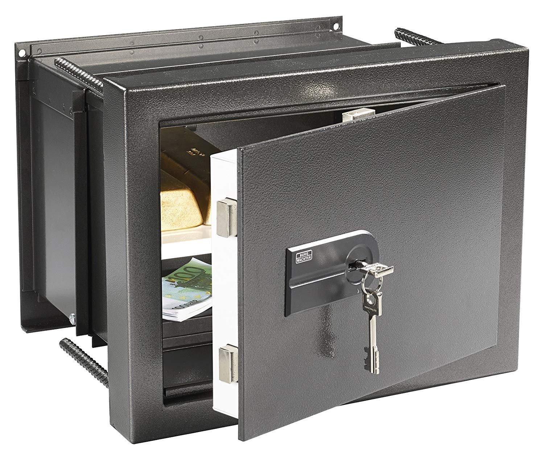 Burg-Wächter WT 14 N S Caja Fuerte de Empotrar Doble Cerradura, Negro, HxBxT: 342x434x233-351 mm: Amazon.es: Bricolaje y herramientas
