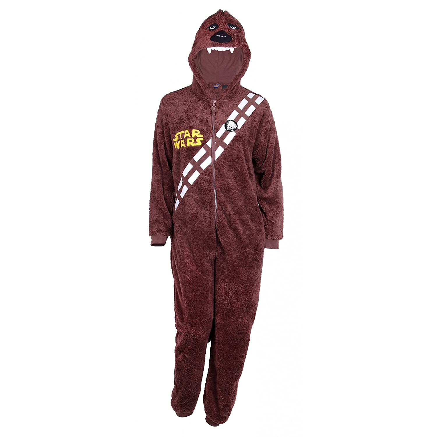 Mens Boys Chewbacca Fancy Dress Costume Star Wars Dressing Up Outfit ...