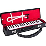 Mugig Melodica 37 Keys Piano Style Melodica, Suitable for Teaching and Playing, with Carrying Case