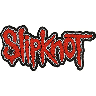 slipknot logo patch red black amazon co uk clothing