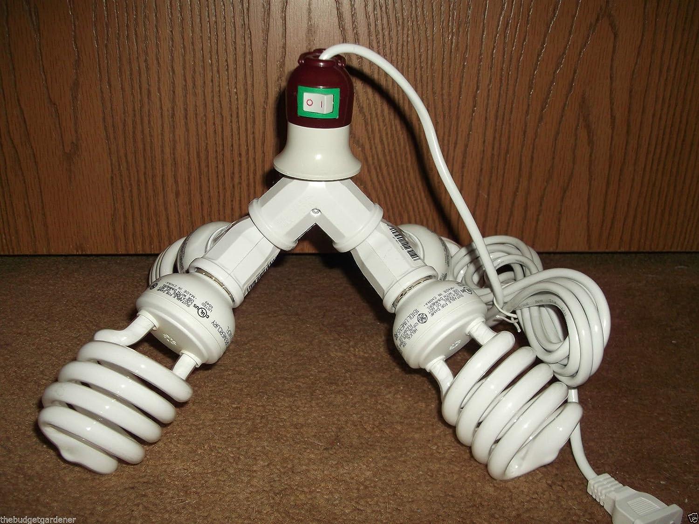 Amazon.com: 400 W CFL Luz de crecimiento Kit- Cord included ...