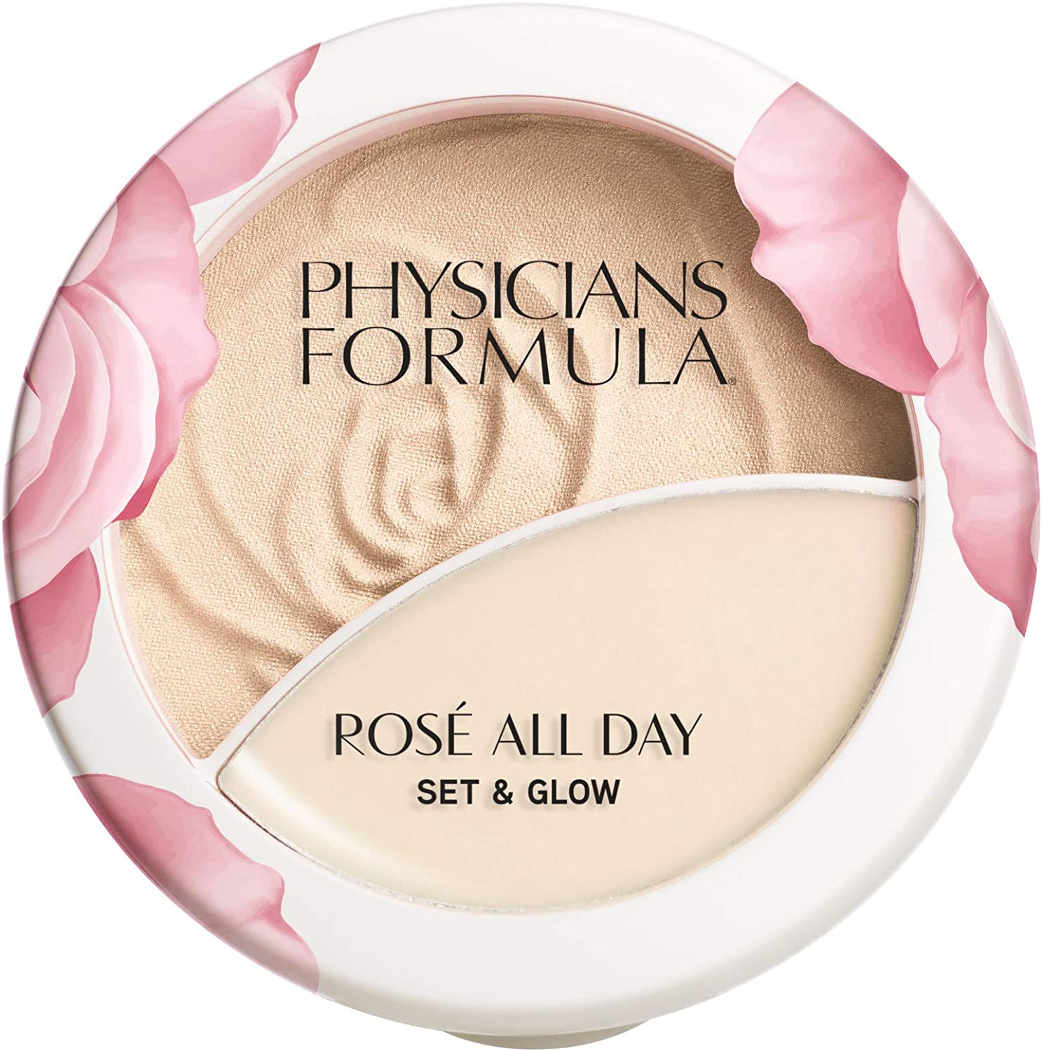 Physicians Formula Rosé All Day Set & Glow Powder & Highlighter Balm, Luminous Light, 0.36 Ounce