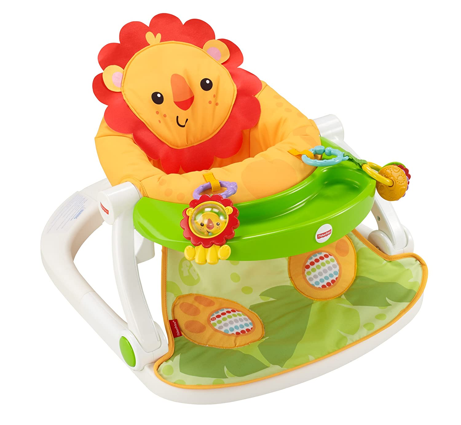 Baby Floor Lion Seat Sit Me Up Chair Tray Soft Foldable Travel Eat