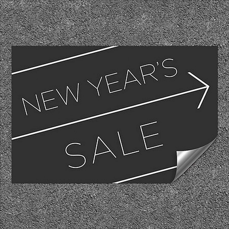 Aluminum Pack of 5 CGSignLab 2455134/_5gfxa/_27x18/_None New Years Sale Basic Black Heavy 27 x 18 Duty Industrial Self Adhesive Wall Decal
