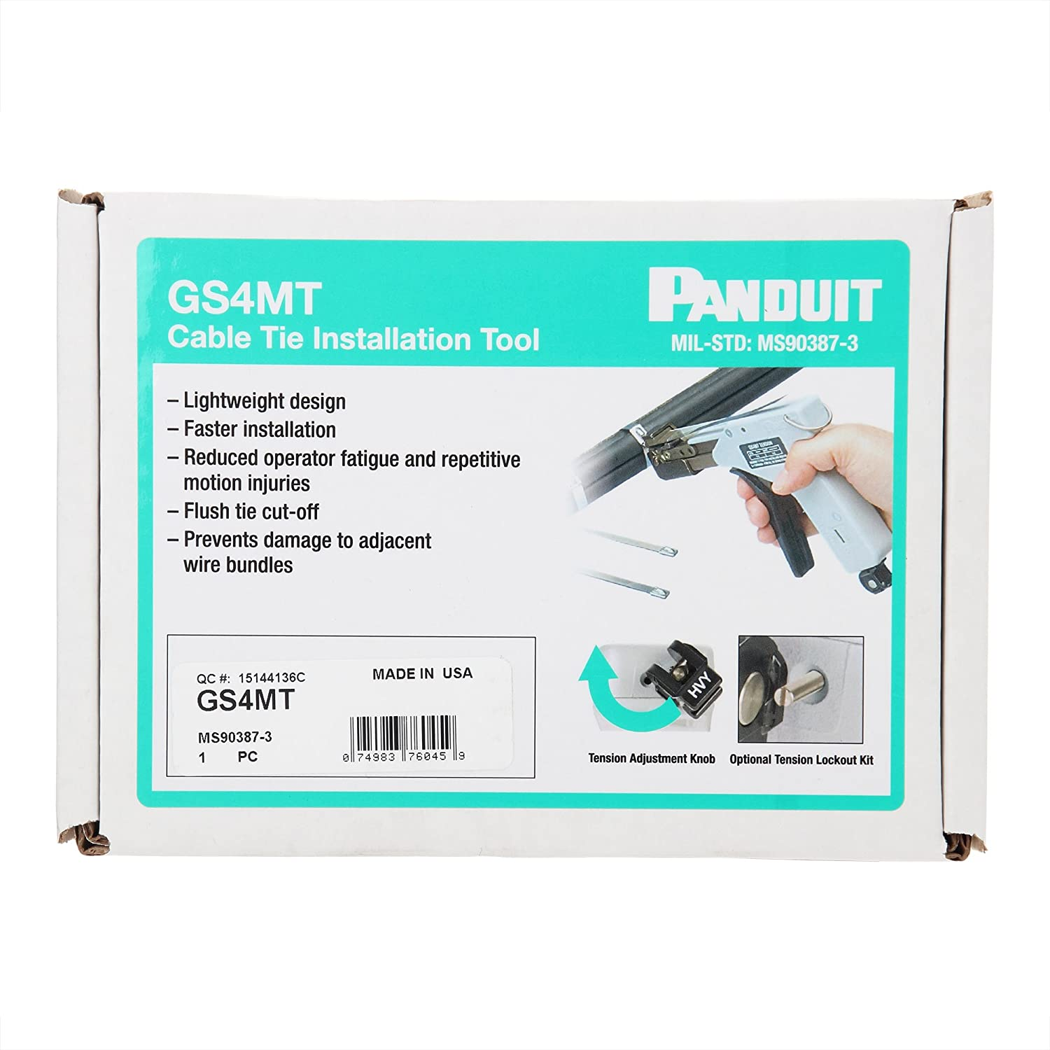 Amazon.com: Panduit GS4MT Hand Operated Installation Tool, Used With ...