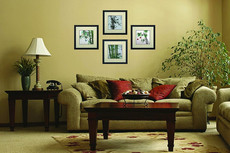 Amazon.com: King Silk Art 100% Handmade Embroidery Framed Green ...
