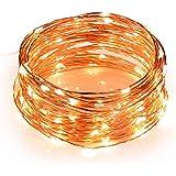 LE Cadena de luces LED 10m, alambre de cobre impermeable