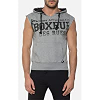 Boxeur des rues - Sleeveless Marl-Grey Hoodie with