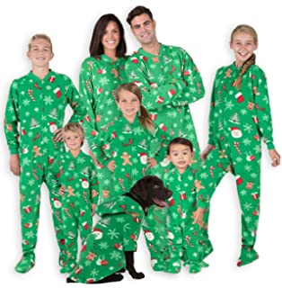 Amazon.com  Footed Pajamas - Family Matching Polar Hoodie Onesies ... d0b37ec94