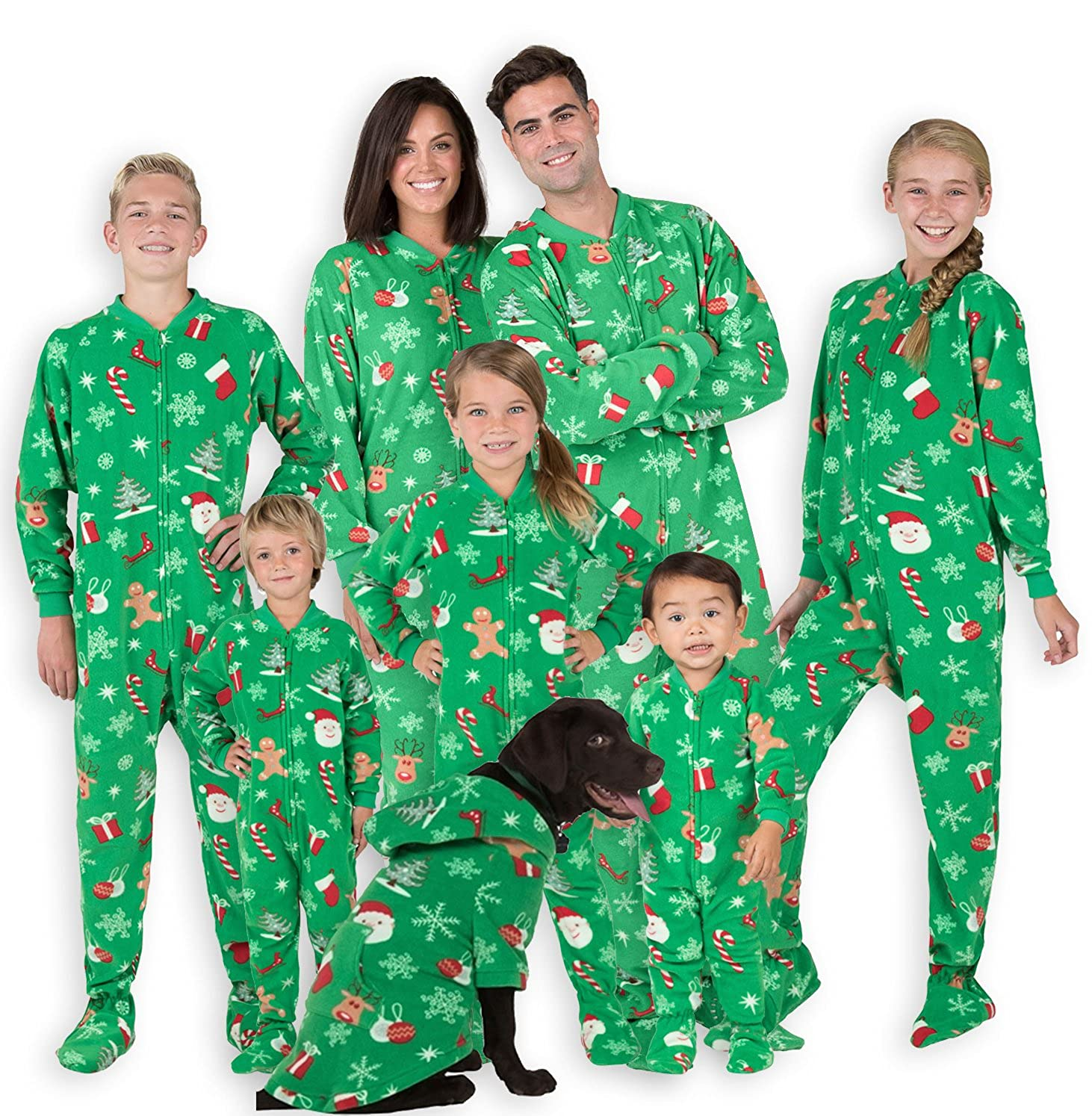 Footed Pajamas Family Matching Tis The Season Fleece