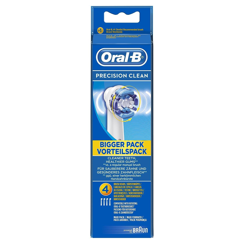 Braun - Precision clean oral b de - cabezales para cepillo de dientes eléctrico (4 unidades): Amazon.es: Bricolaje y herramientas