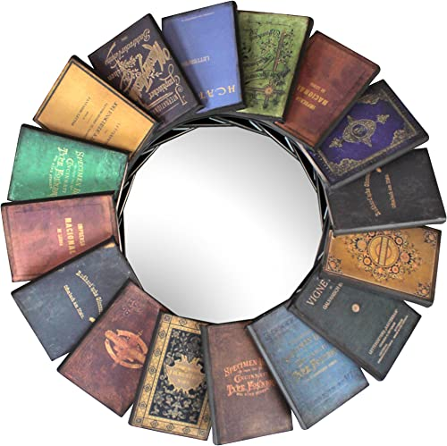 Best decorative wall mirror: Design Toscano Lord Byron's Compendium of Books Metal Wall Mirror