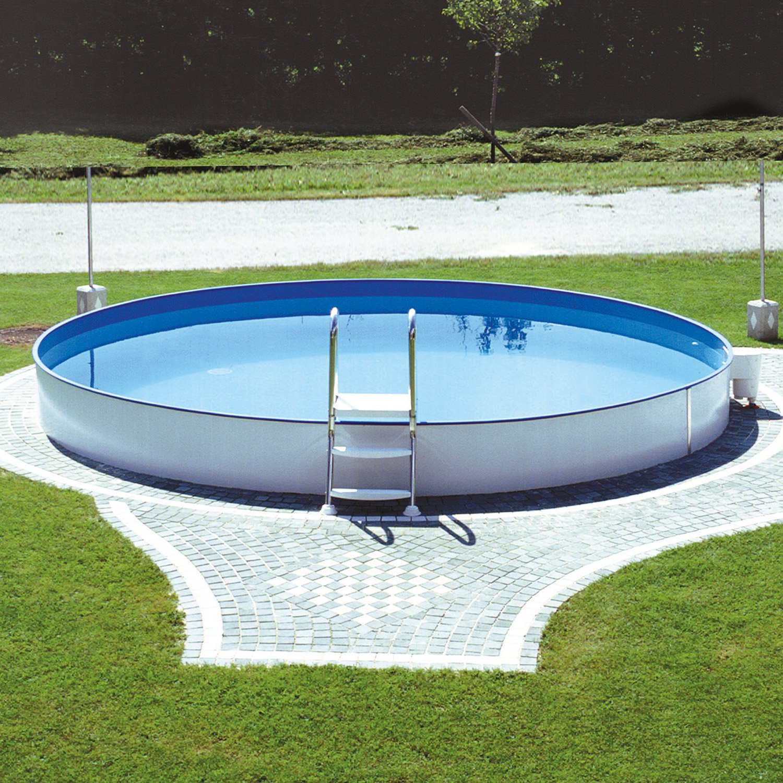 Einbaupool oval bestway oval frame set x x cm inkl for Bestway pool bauhaus