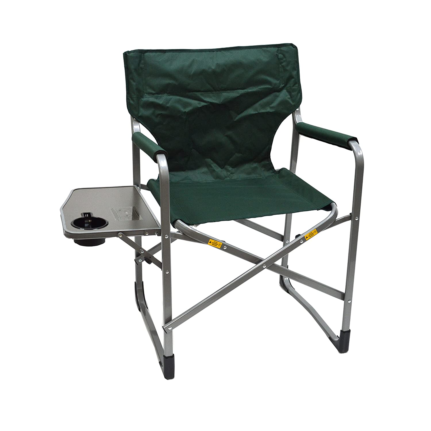 MAC S P O R T S Deluxe Director's Chair with Side Table (Green) Mac Sports C2150ST