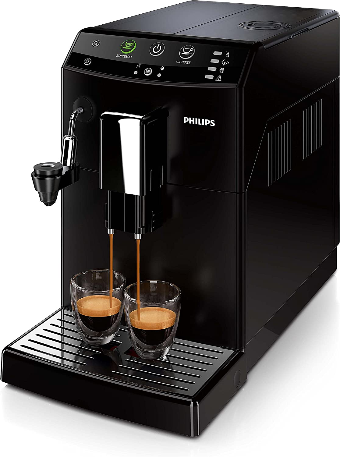 Philips 3000 series HD8824/01 - Cafetera (Independiente, Máquina espresso, 1,8 L, Molinillo integrado, 1850 W, Negro ...