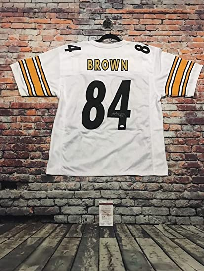ad65ab3d2 Image Unavailable. Image not available for. Color  Antonio Brown  Autographed Signed Pro Style White Jersey Memorabilia - JSA Authentic