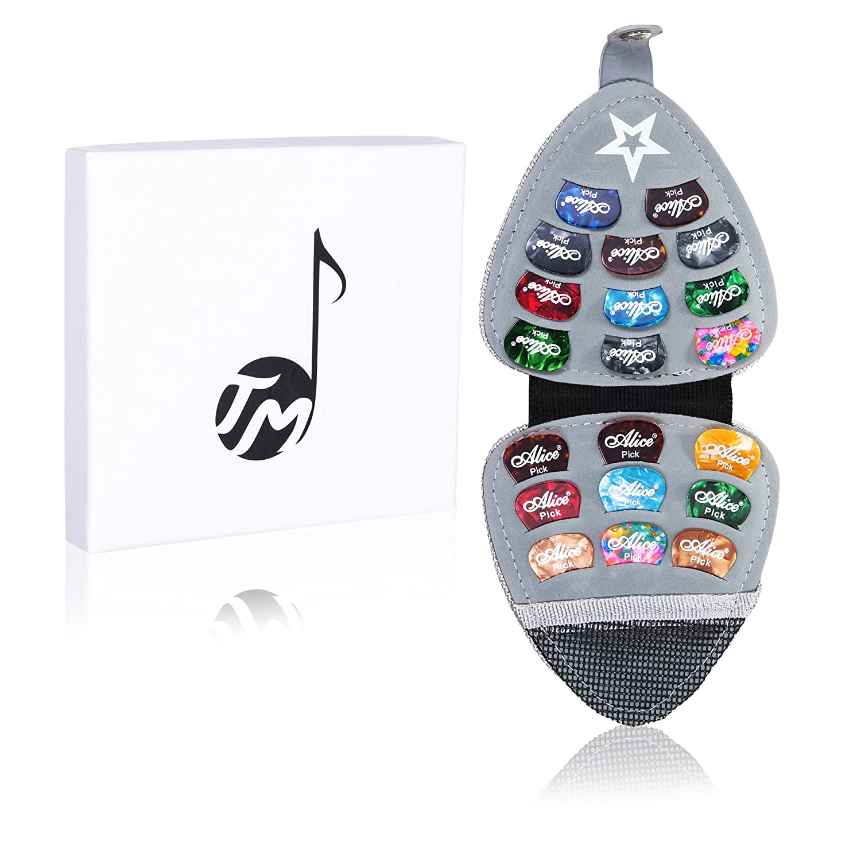 Guitar Pick Holder Black Fashionable Guitar Pick Case Plus 20 Premium Guitar Picks by Talented Musicians 4336350410