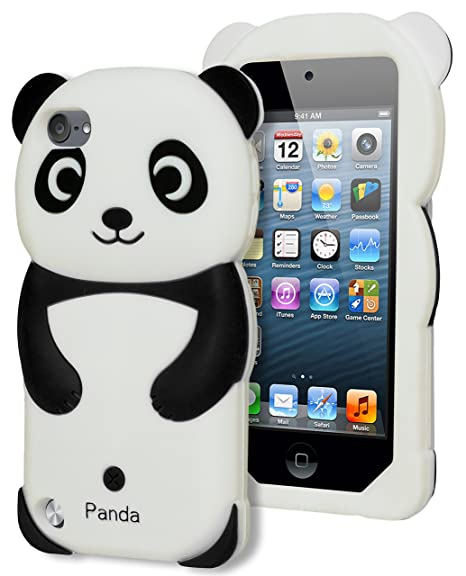 b94de64da50 Amazon.com: Bastex 3d Panda Bear Silicone Case for Apple Ipod Touch 5, 5th  Generation - Black and White [Compatible with iPod Touch 6]: Cell Phones &  ...