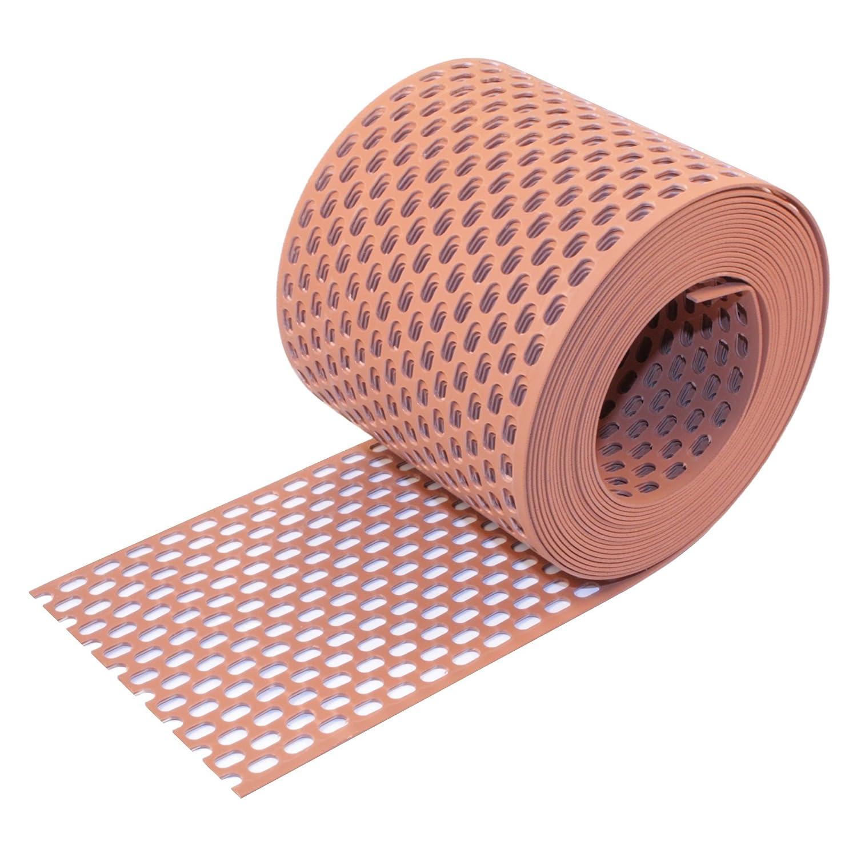 Traufgitter PVC wei/ß 180 mm 5 m Rolle
