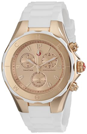 74d056ff9 Image Unavailable. Image not available for. Color: MICHELE Women's  MWW12F000030 Tahitian Jelly Bean Analog Display Analog Quartz White Watch