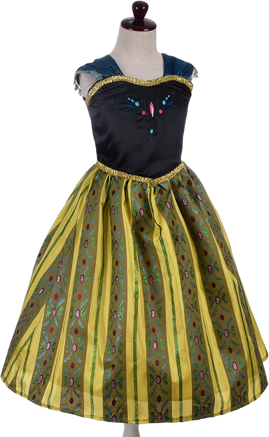Dressy Daisy Girls Ice Princess Sister Coronation Gown Birthday Halloween Christmas Fancy Party Costume Size 2-12