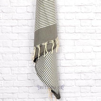 La Idea de regalo gris Lurex Fouta toalla Peshtemal, toalla decorativa, Fouta Pestemal toalla