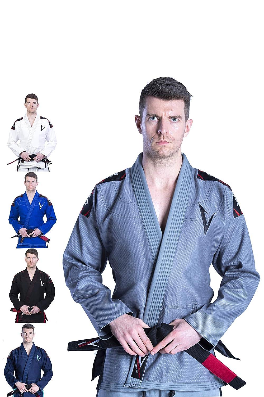 Kimono Vector Attila Series de Jiu Jitsu con cinturón blanco, ligero, 100% algodón 100% algodón Vector Sports