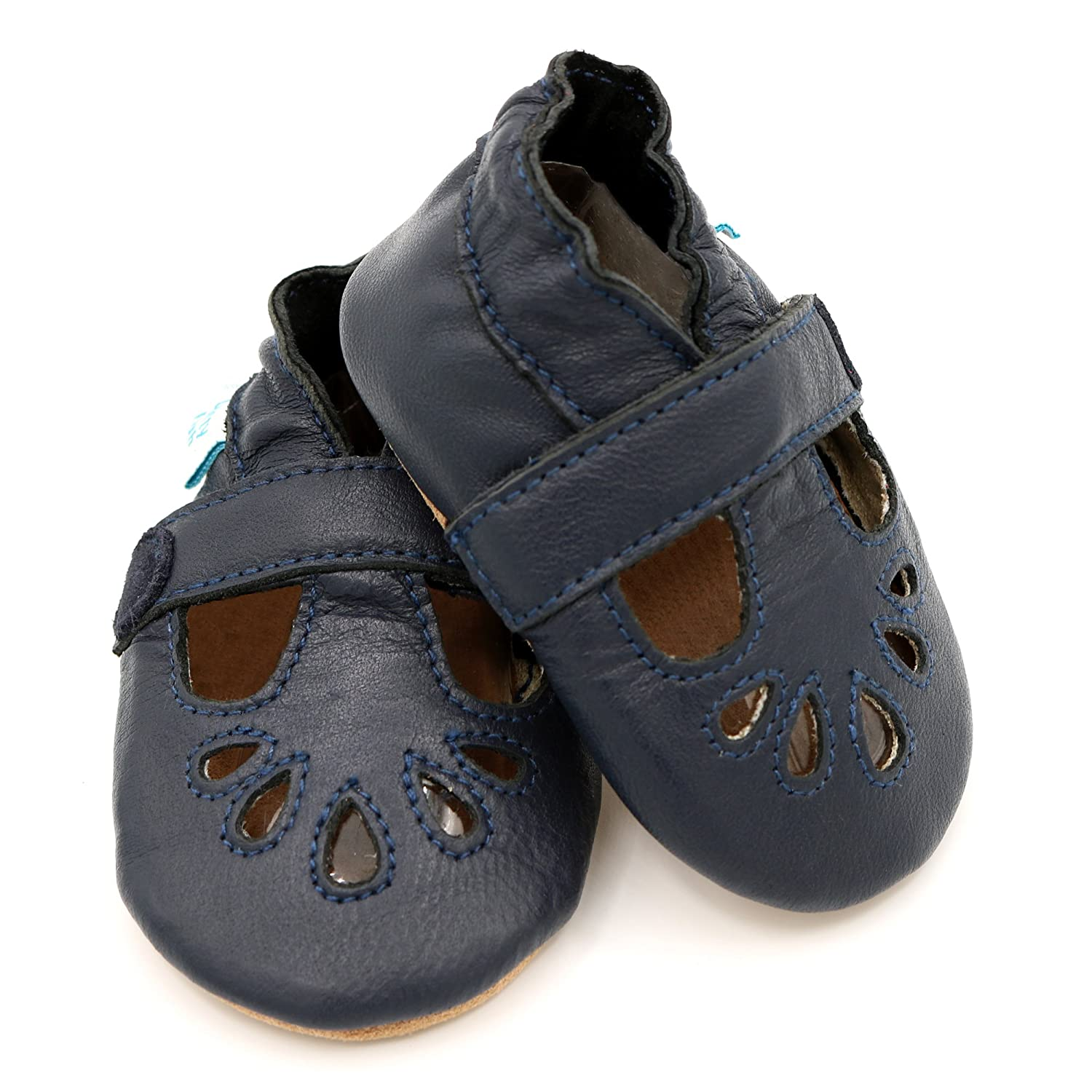 Dotty Fish Soft Leather Baby Shoes